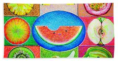 Fruits Beach Towel by Viktor Lazarev
