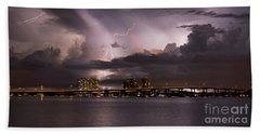 Ft Myers Nights Beach Towel by Quinn Sedam