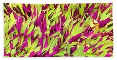 Fuchsia And Green -- Aloha Ground Cover Beach Towel