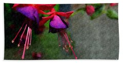 Fuchsia's Beating As One Together -silk Edit Beach Towel