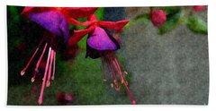 Fuchsia's Beating As One Together -silk Edit Beach Sheet