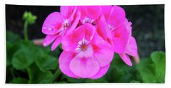 Full Bloom Geranium Beach Sheet