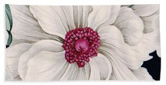 Beach Towel featuring the mixed media Full Bloom by Writermore Arts