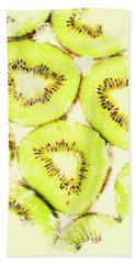 Full Frame Shot Of Fresh Kiwi Slices With Seeds Beach Sheet by Jorgo Photography - Wall Art Gallery