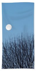 Full Moon At Dawn Beach Towel
