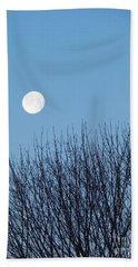 Full Moon At Dawn Beach Sheet