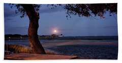 Full Moon At Inlet Watch Beach Sheet by Phil Mancuso