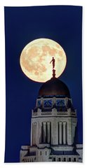 Full Moon Before The Eclipse Beach Towel
