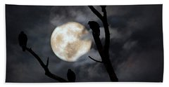Beach Towel featuring the photograph Full Moon Committee by Darren Fisher