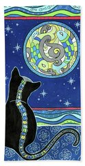 Pisces Cat Zodiac - Full Moon Beach Sheet