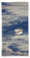 Full Moon In Gemini With Clouds Beach Sheet