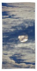 Full Moon In Gemini With Clouds Beach Sheet