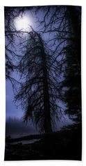 Full Moon In The Woods Beach Towel