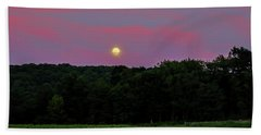 Full Moon Beach Towel by Jean Haynes