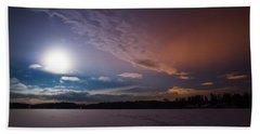 Full Moon Nightscape Beach Towel