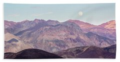 Full Moon Over Artists Palette Beach Towel
