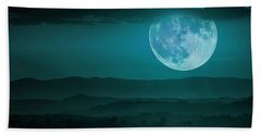 Full Moon Over Tuscany Beach Towel