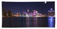 Full Moon Panorama Beach Towel by Frozen in Time Fine Art Photography