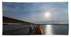 Full Moon Pier Beach Sheet