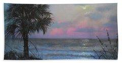 Full Moon Rising Beach Towel by Blue Sky