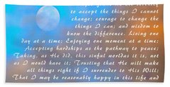 Beach Towel featuring the photograph Full Moon Serenity Prayer Digital by Floyd Snyder