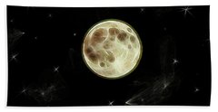 Beach Towel featuring the digital art Full Moon Summer Fantasy by Aliceann Carlton