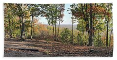 Full Panoramic View From The Summit Of Brown's Mountain Trail Beach Towel