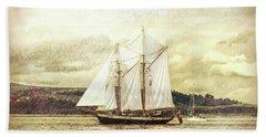 Beach Sheet featuring the photograph Full Sail by Lynn Bolt