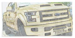 Beach Towel featuring the photograph Full Sized Toy Truck by John Schneider