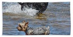Fun At The Lake Beach Towel by Jim Fitzpatrick