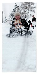 Fun On Snow-5 Beach Towel