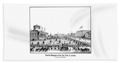 Funeral Obsequies Of President Lincoln Beach Towel