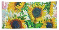 Funflowers Beach Towel