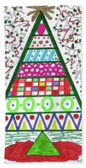 Funky Christmas Beach Towel