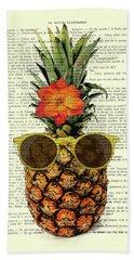 Funny And Cute Pineapple Art Beach Towel