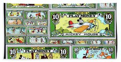 Funny Money Collage Beach Towel