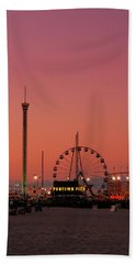 Funtown Pier At Sunset II - Jersey Shore Beach Towel
