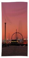 Funtown Pier At Sunset II - Jersey Shore Beach Towel