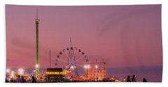 Funtown Pier At Sunset IIi - Jersey Shore Beach Towel