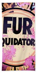 Beach Towel featuring the photograph Fur - Sign by Colleen Kammerer