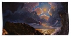 Beach Towel featuring the painting Furor by Rosario Piazza
