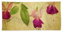 Beach Towel featuring the photograph Fuschia  #2 by Rebecca Cozart