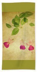 Beach Towel featuring the photograph Fuschia #3 by Rebecca Cozart