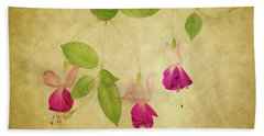 Beach Towel featuring the photograph Fuschia #4 by Rebecca Cozart