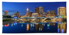 Fx2l531 Columbus Ohio Skyline Photo Beach Towel
