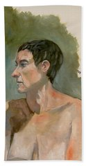 Gabrielle With Long Hair Beach Towel by Ray Agius