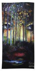 Gaia Beach Towel by Jodie Marie Anne Richardson Traugott          aka jm-ART