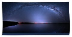 Beach Sheet featuring the photograph Galactic Lake by Mark Andrew Thomas