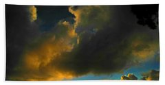Beach Towel featuring the photograph Galactic Sunset by Mark Blauhoefer