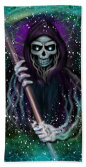 Galaxy Grim Reaper Fantasy Art Beach Towel